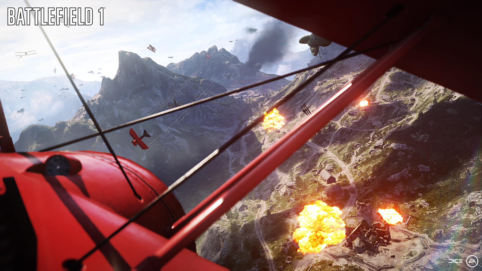 Battlefield 1- Luftschlachten mit Doppeldecker und Zeppelinen