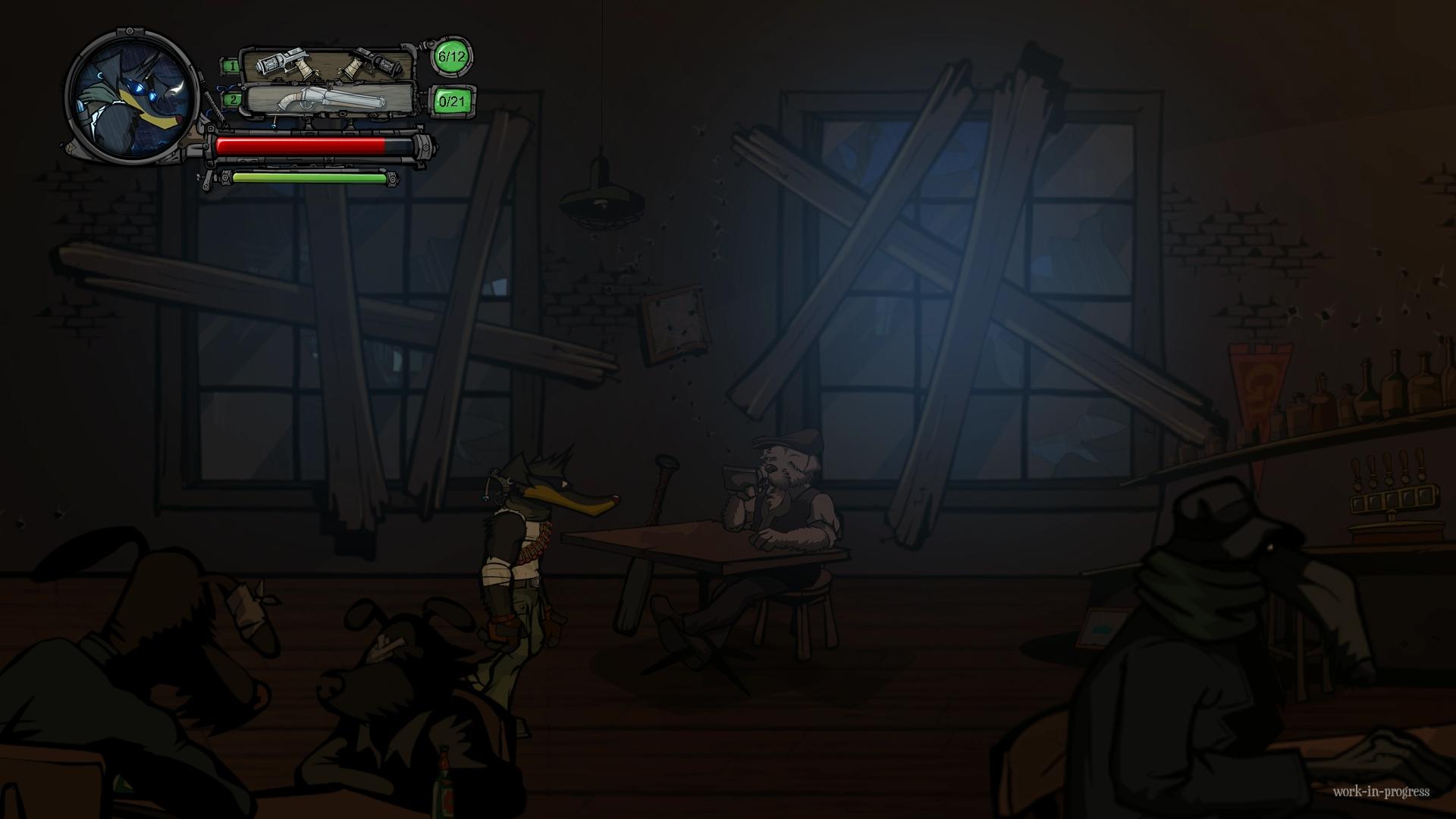 Buck - Underdog Indie Game - Eine Bar