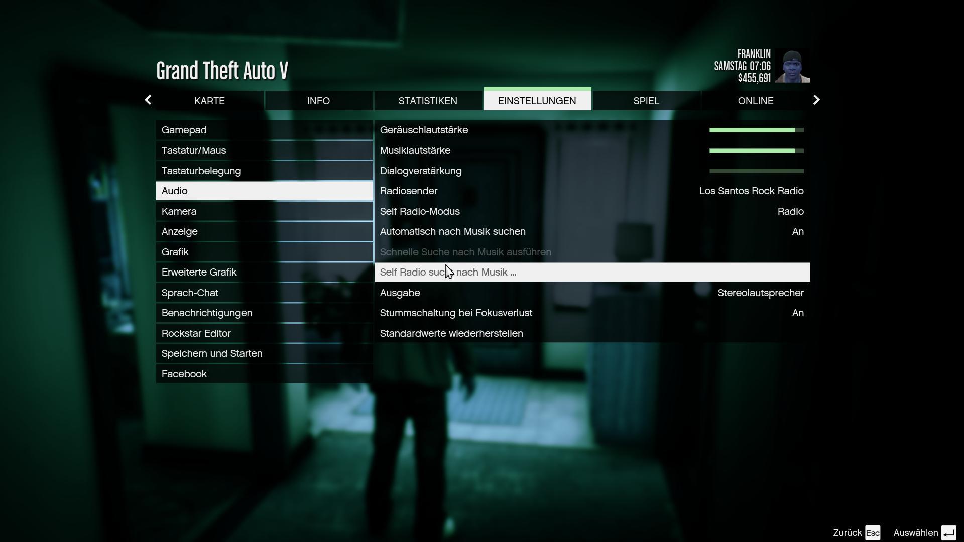 GTA V - Eigene Musik im Spiel suchen
