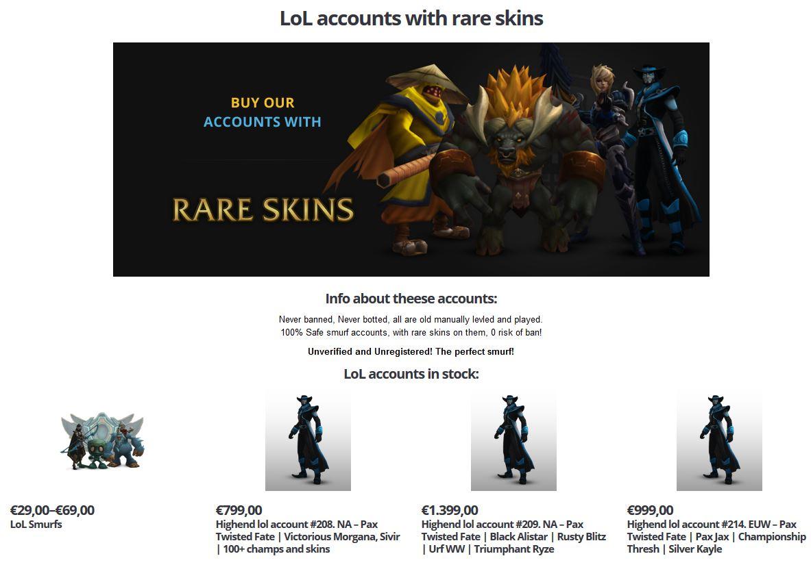LoL - Skins für über Tausend Euro