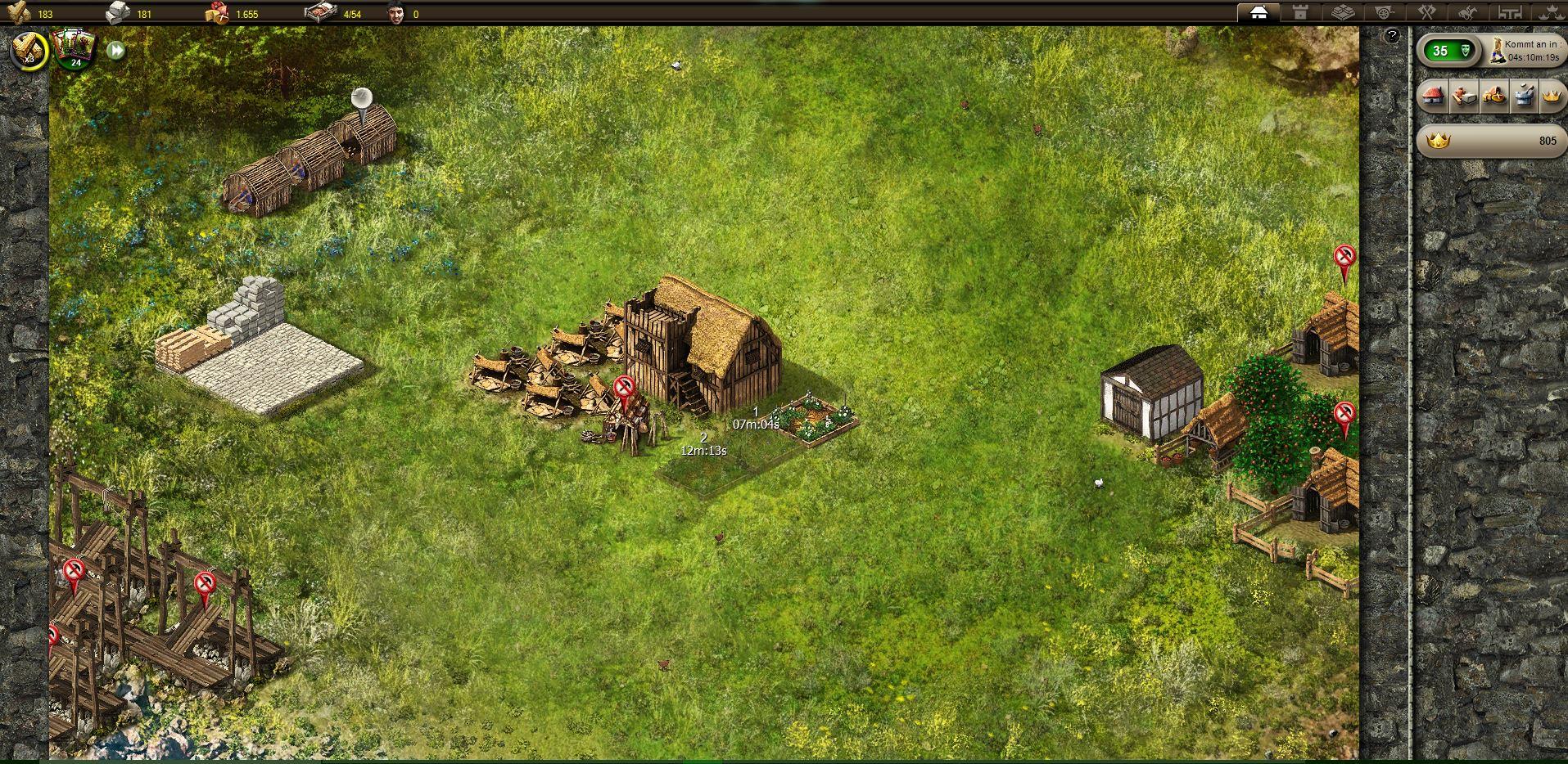 Stronghold Kingdoms - Dorf zu Beginn