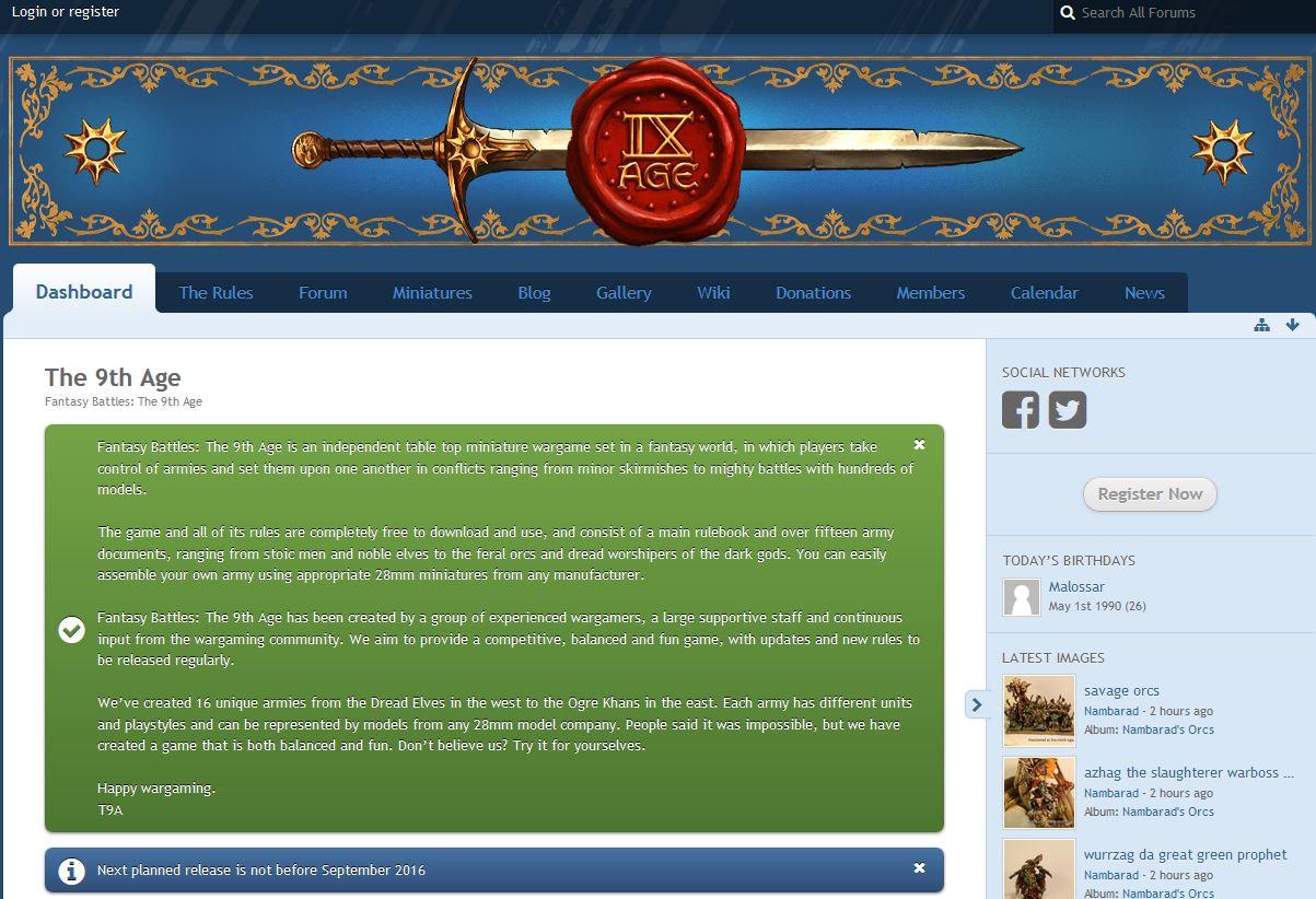 The Ninth Age - Ersatz für Warhammer Fantasy von Fans gemacht