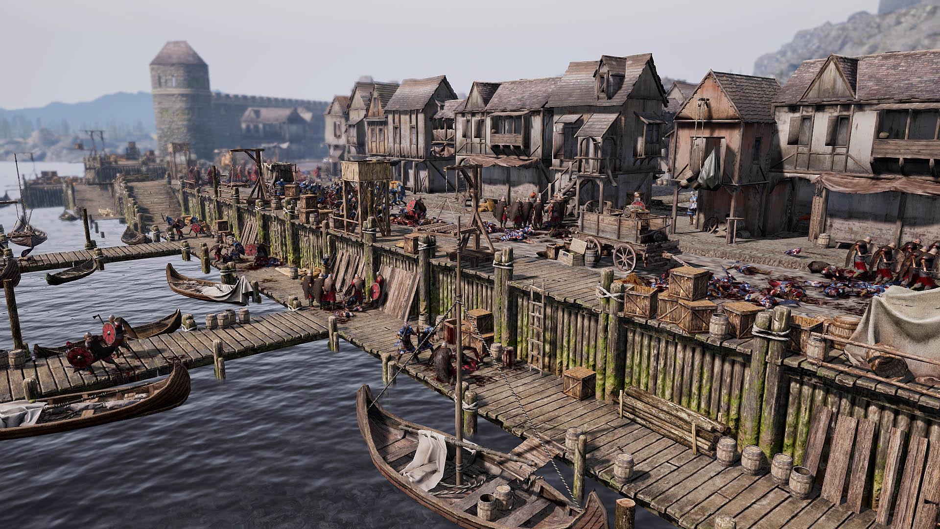 Ancestors Legacy - Wikinger überfallen eine Hafenstadt