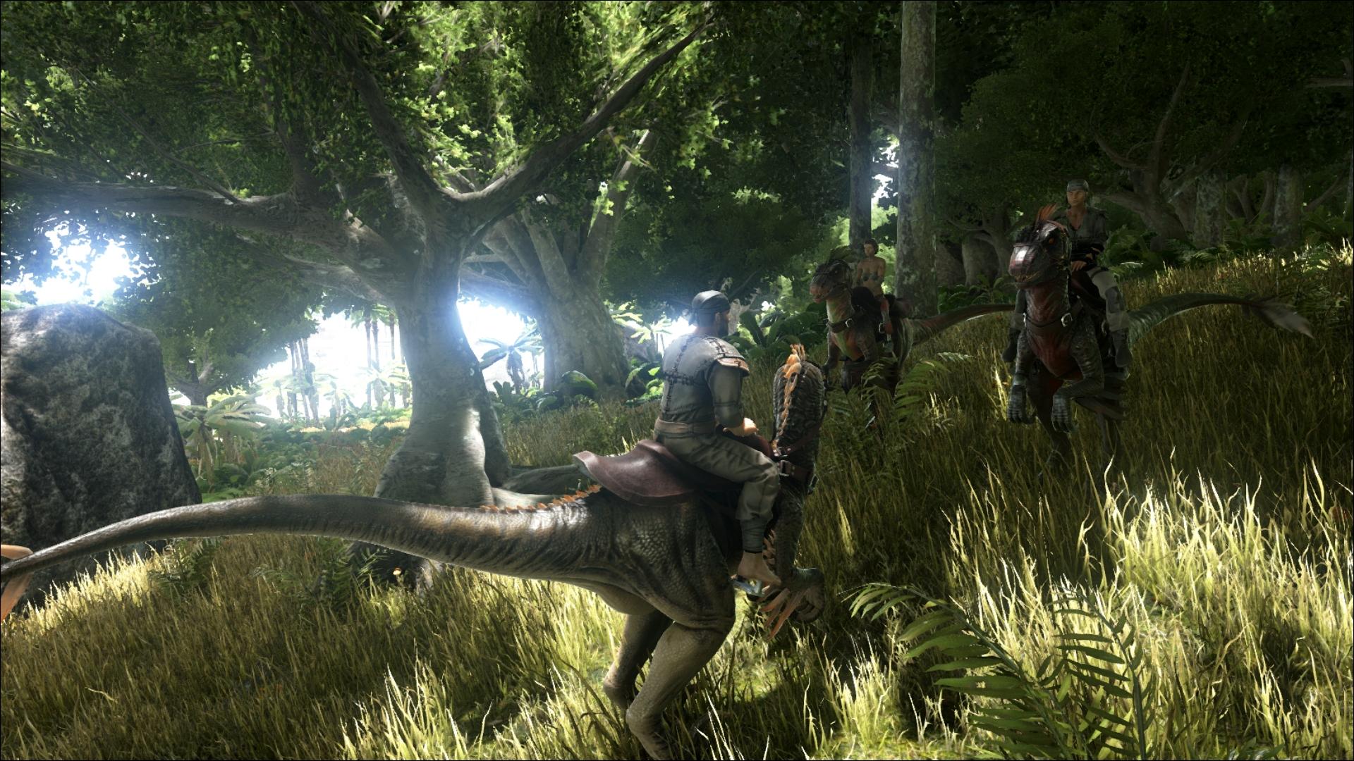 ARK - Survival Evolved - Schnelle Reitdinos im Wald