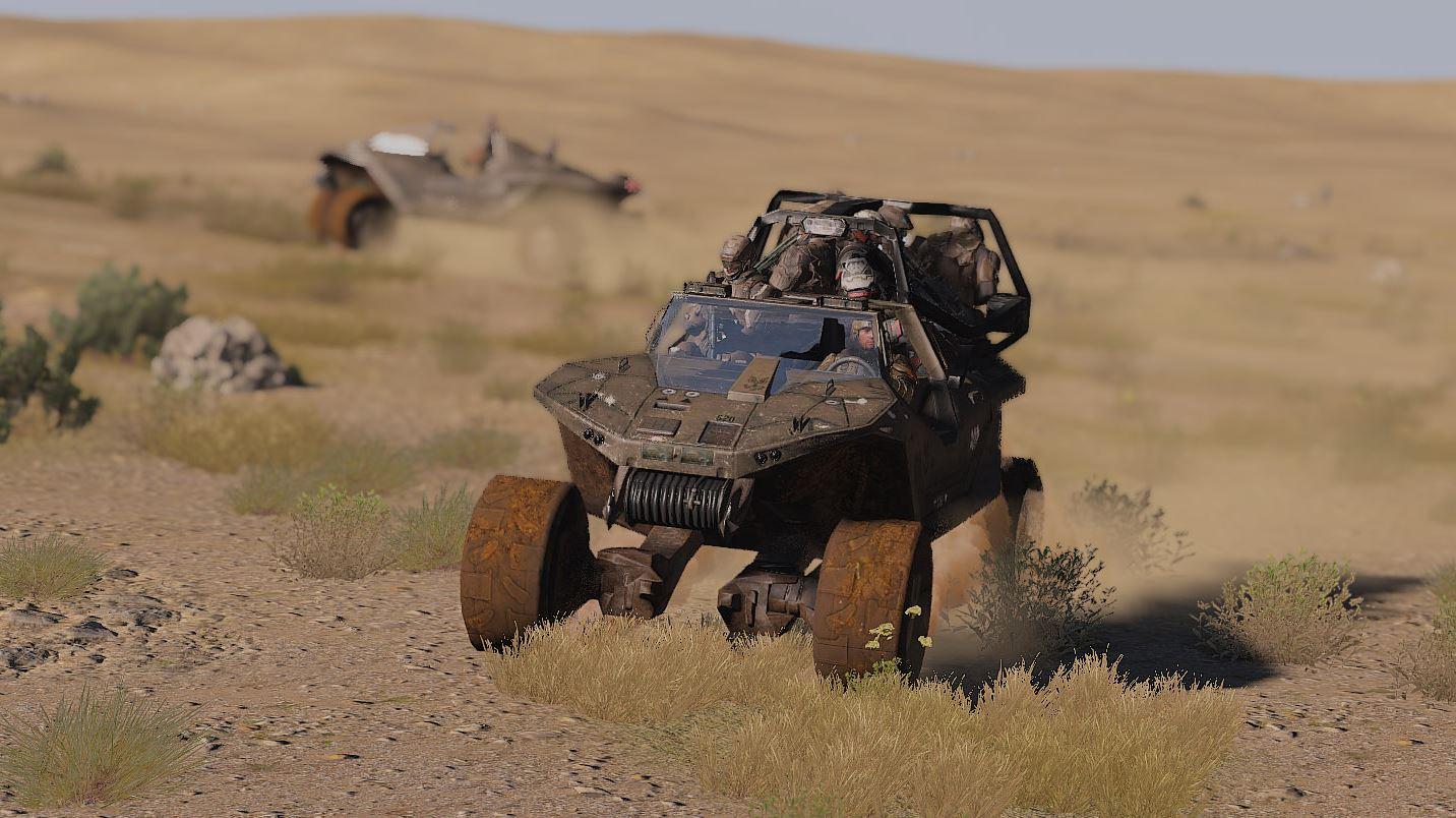 ArmA 3 Mod - The Eridanus Insurrection - Fahrzeuge mit voller Besatzung.JPG