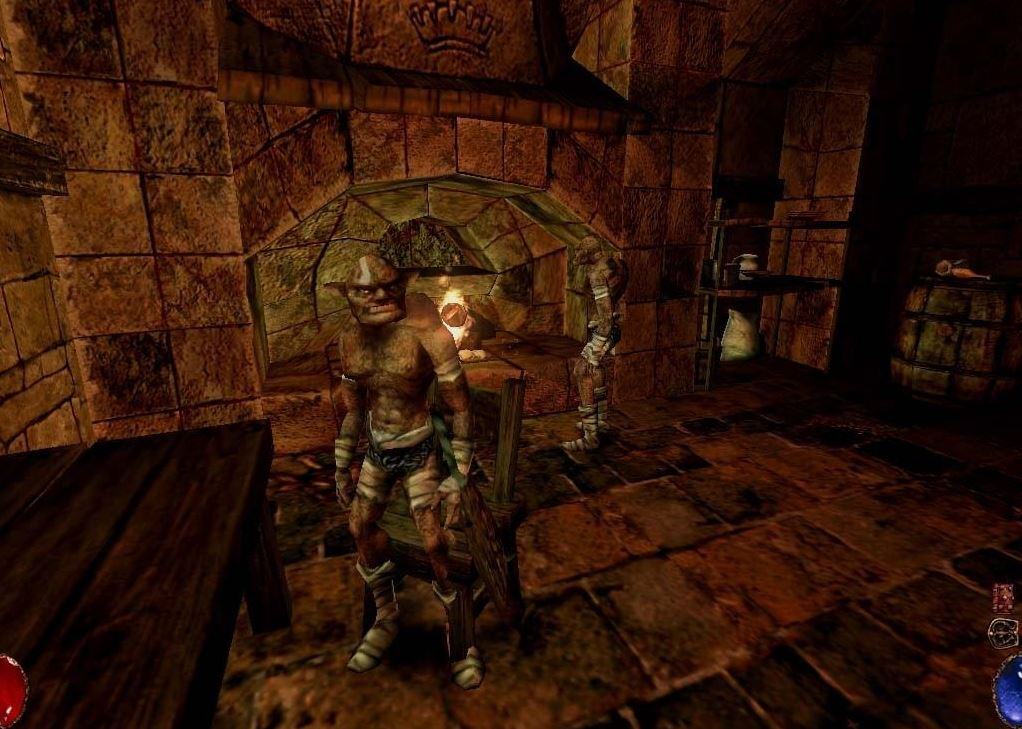 Arx Fatalis - Goblins am Ofen.JPG