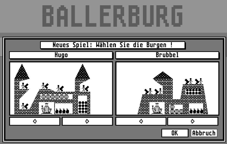 Ballerburg - Atari ST - Wähle deine Burg