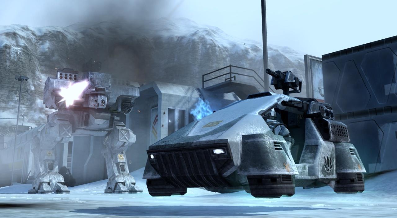 Battlefield 2142 Schwebefahrzeug und Kampfroboter