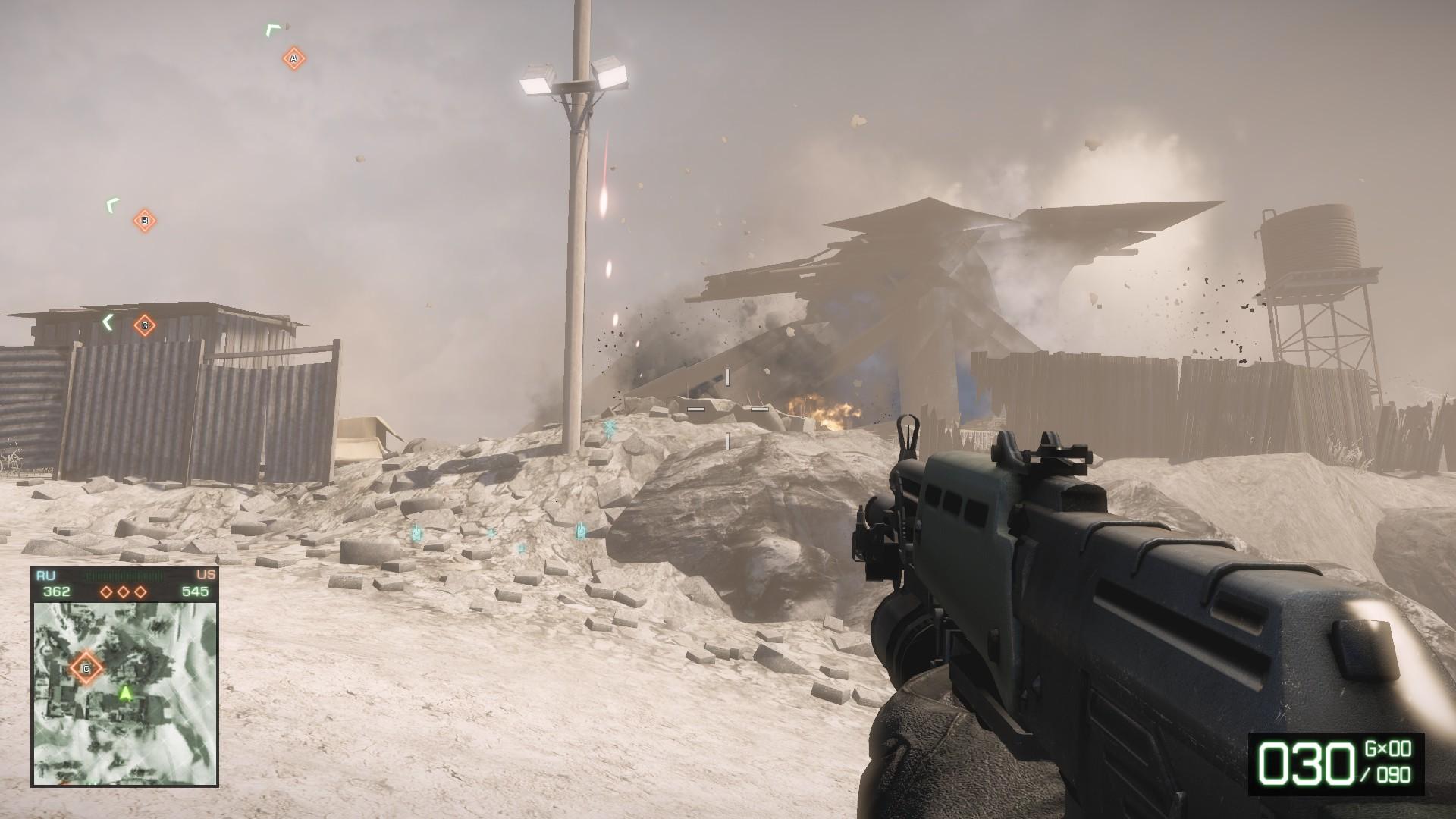 Battlefield Bad Company 2 - Ein Haus fällt in sich zusammen 2