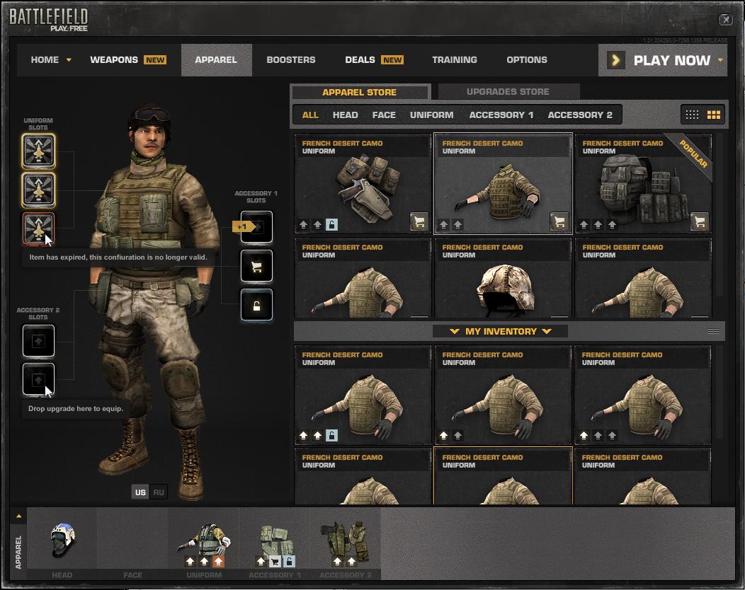 Battlefield Play4Free Shop