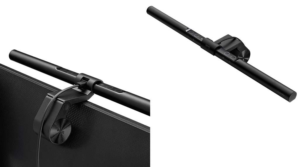 BenQ ScreenBar - Die LED-Lampe oben und hinten