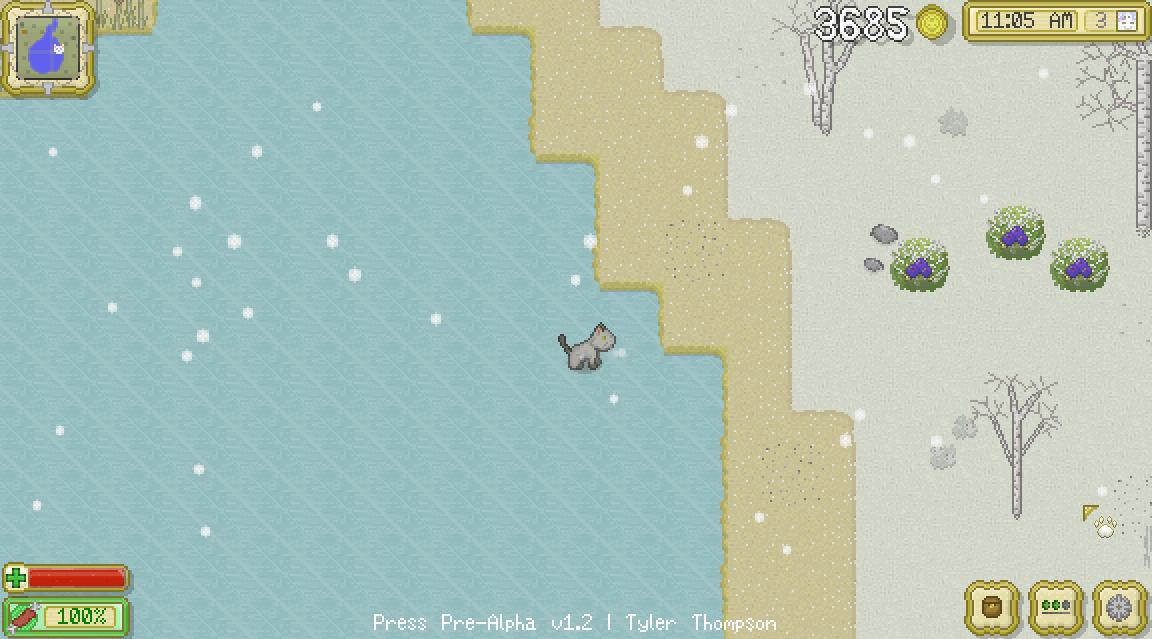 Cattails - Eis im Winter