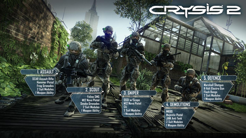 Crysis 2 Mehrspieler diese Klassen gibt es bald nicht mehr