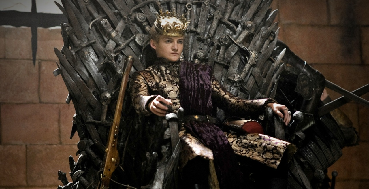 Game of Thrones Joffrey Baratheon auf dem eisernen Thron