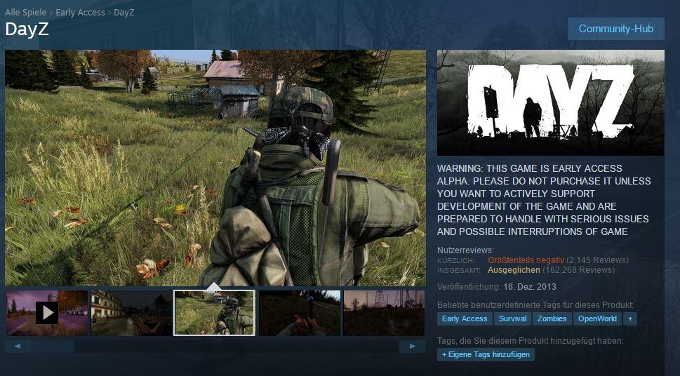 DayZ Standalone - Steam Shop