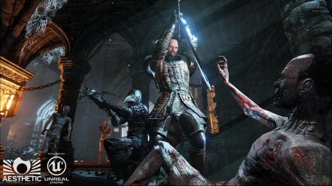 Dead Crusade Ritter und Ambrustschuetze im Kampf gegen die Zombies