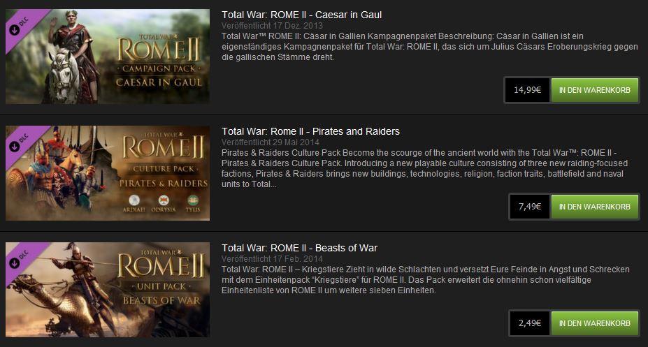 Total War Rome II DLCs sind Abzocke 2