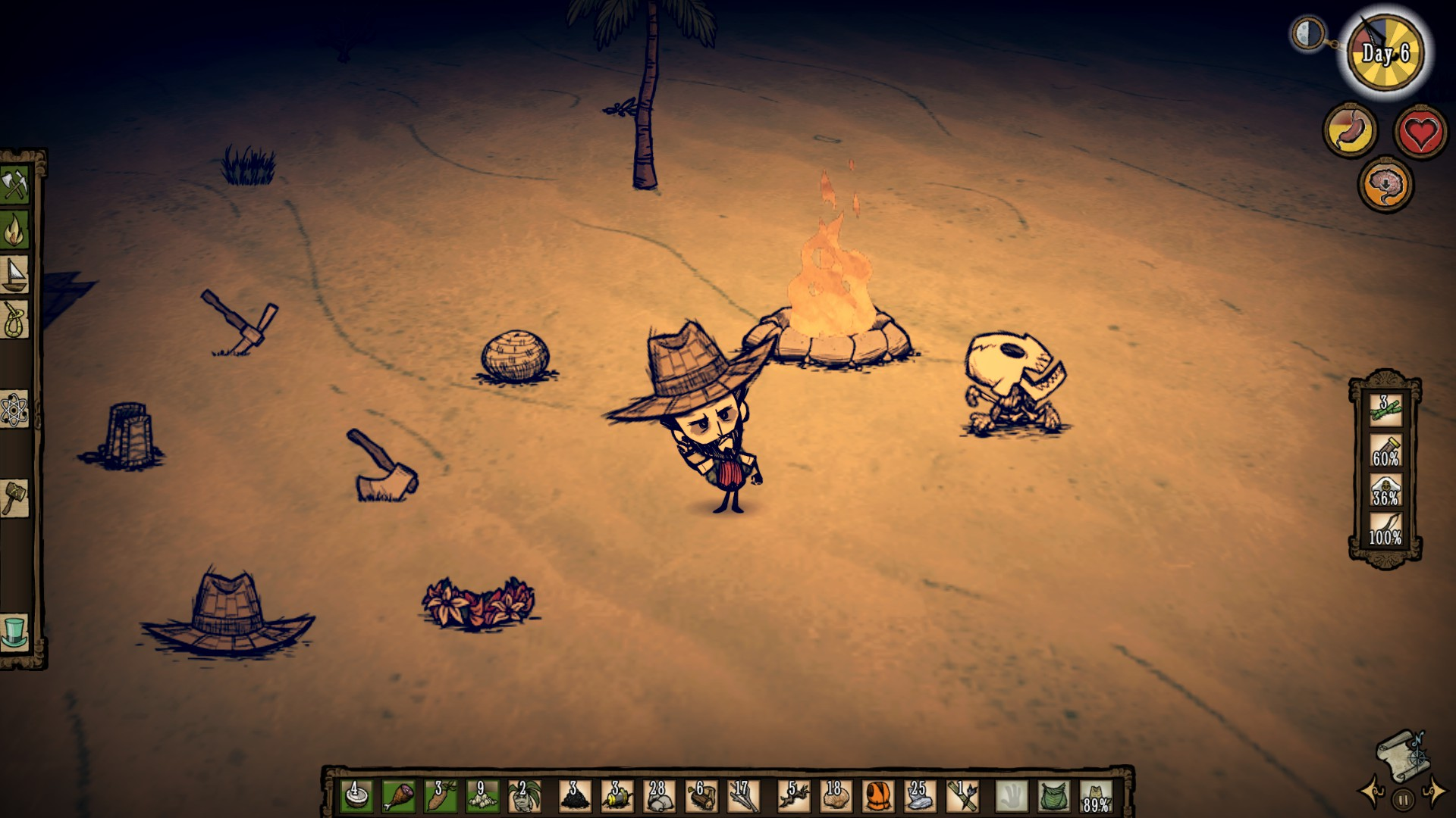 Don't Starve Shipwrecked - Am Lagerfeuer