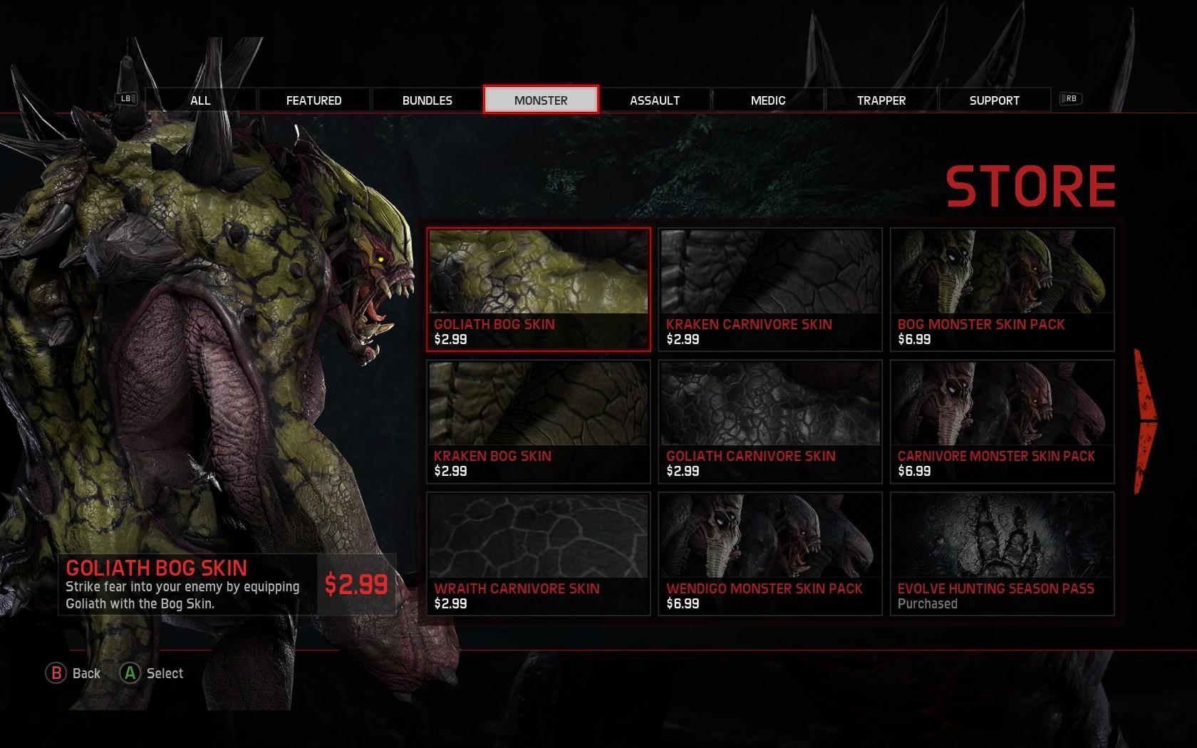 EVOLVE - Ingameshop Monster Skins.jpg