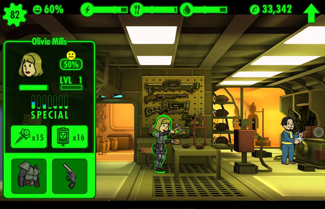 Fallout Shelter - Waffen und Ausrüstung