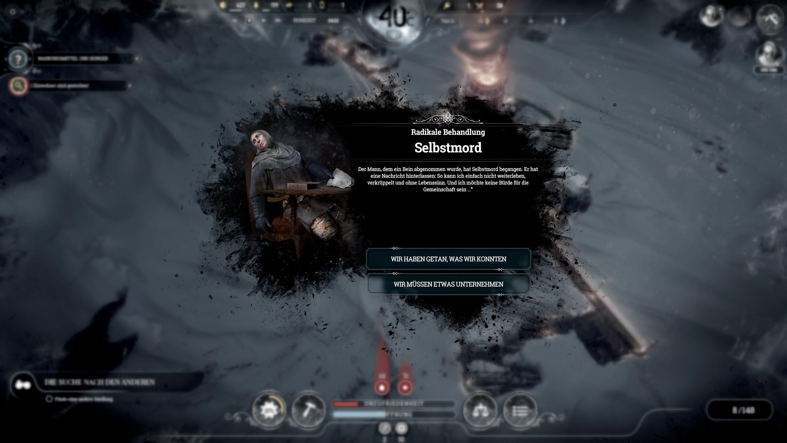 Frostpunk - Ereignisse