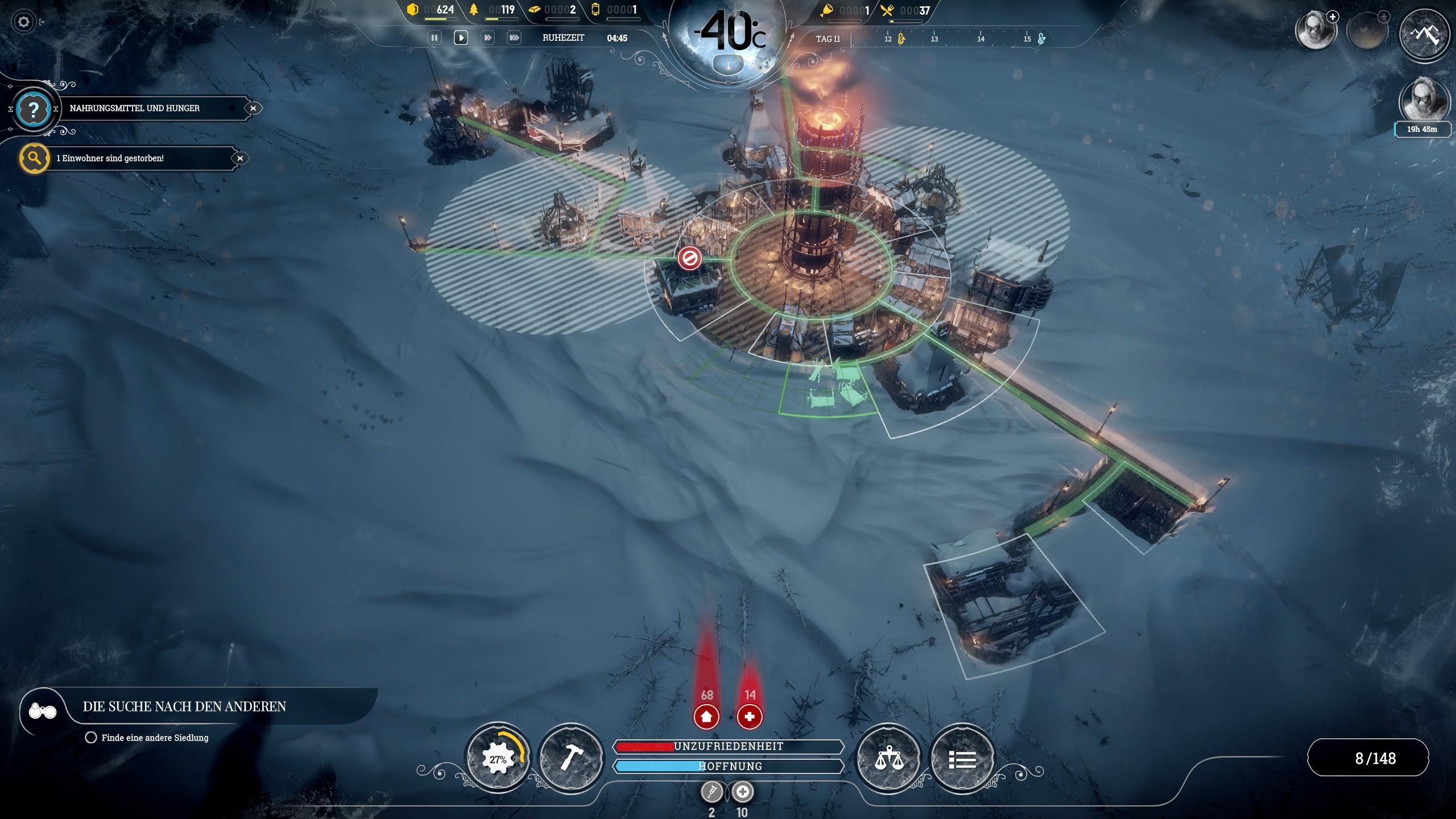 Frostpunk - Gebäude errichten