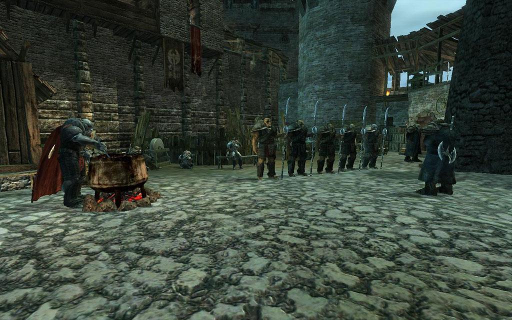 Gothic 3 Orks im Burghof