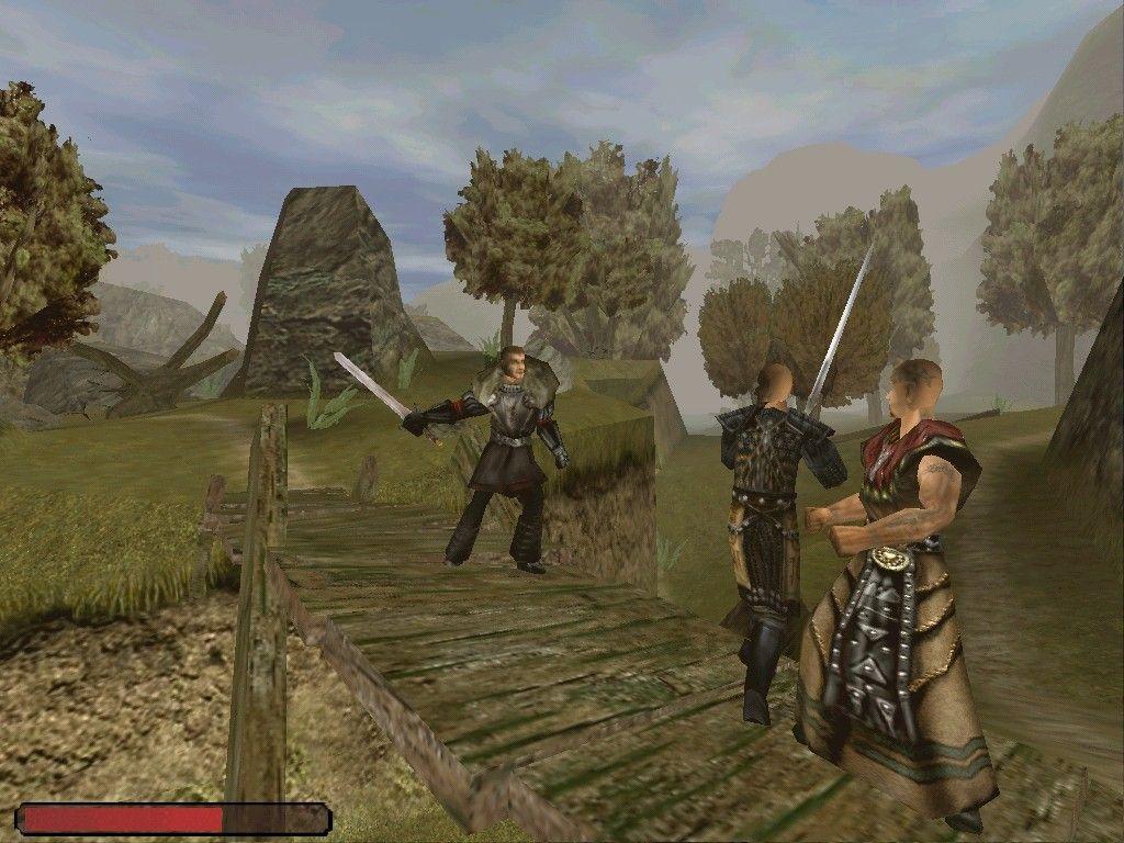 Gothic - Templer und Erzbaron kämpfen in der Nähe des Neuen Lagers