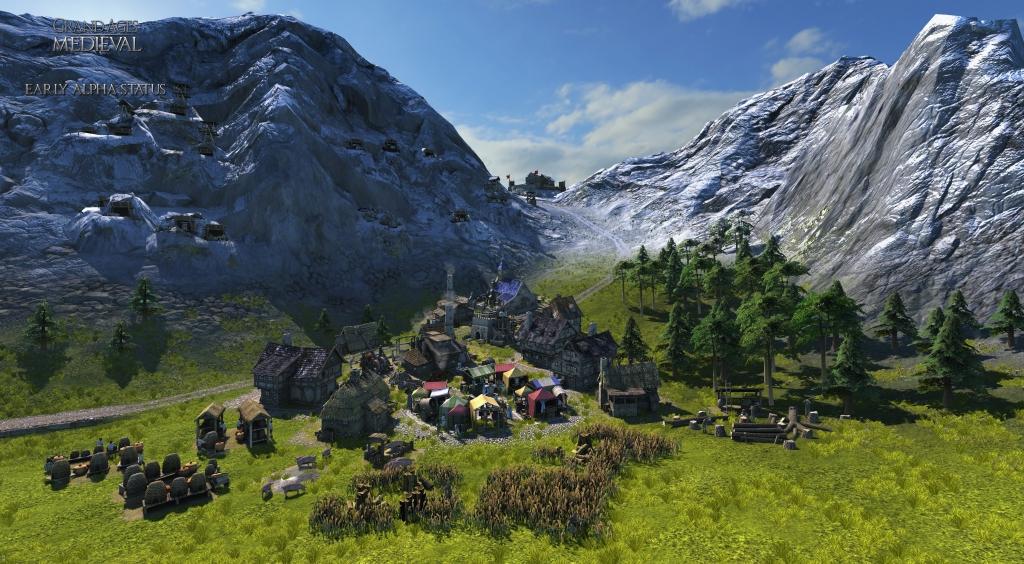 Grand Ages Medieval - Eine Siedlung an den Bergen