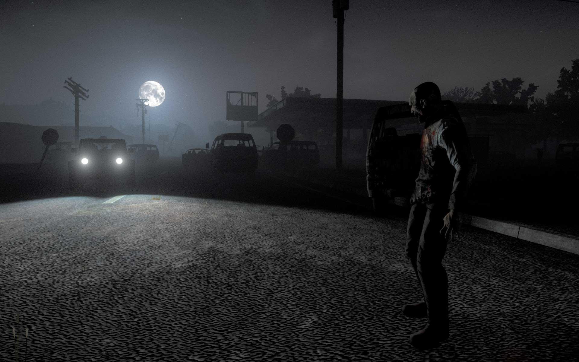 H1Z1 Zombie bei Nacht