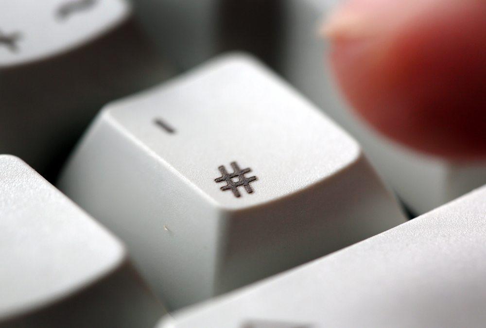 hastag-tastatur