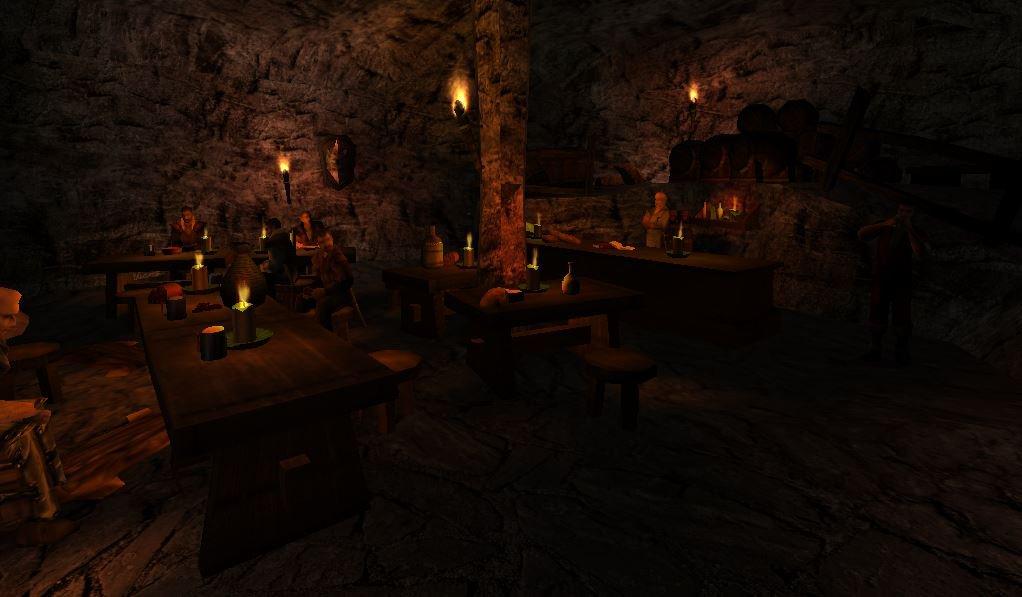 Legend of Ahssûn - Schenke in einer Höhle
