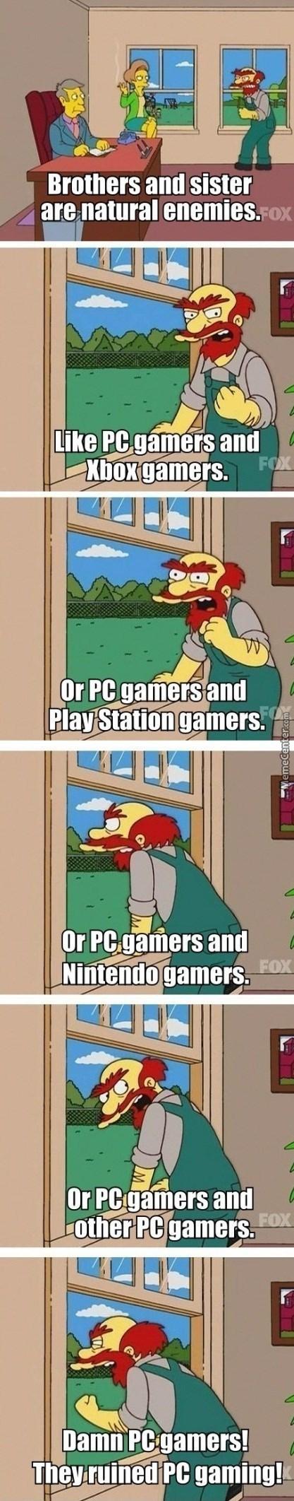 DAmn PC GAmers Simpsons Meme