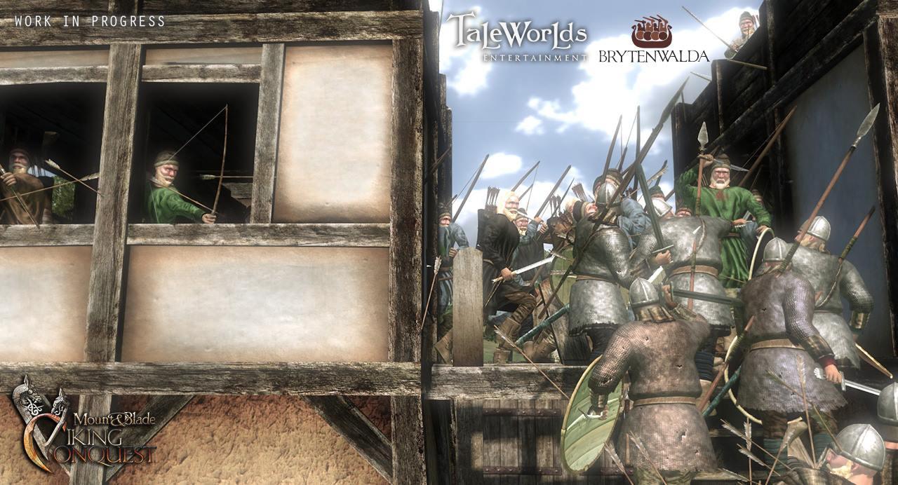 Mount & Blade Warband - Viking Conquest - Straßenschlacht