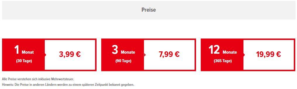 Nintendo Switch Online - Preise
