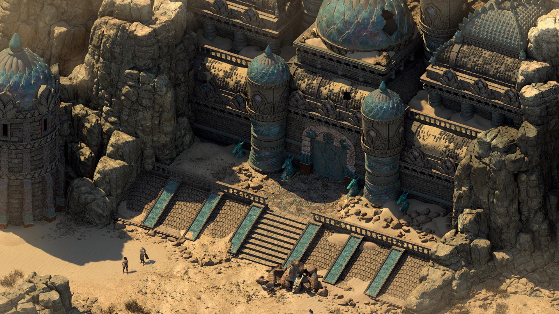 Pillars of Eternity II - Deadfire - Ein mächtiges Bauwerk in der Wüste