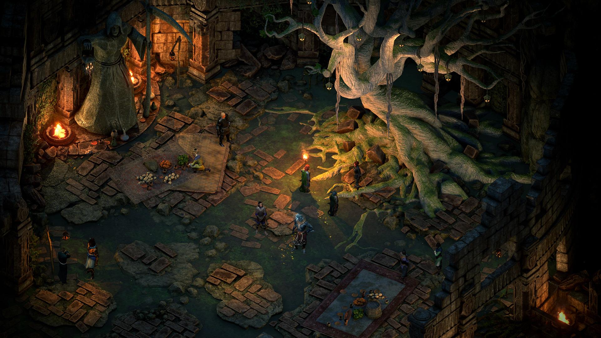 Pillars of Eternity II - Deadfire - ein fremder Ort mit einem mächtigen alten Baum