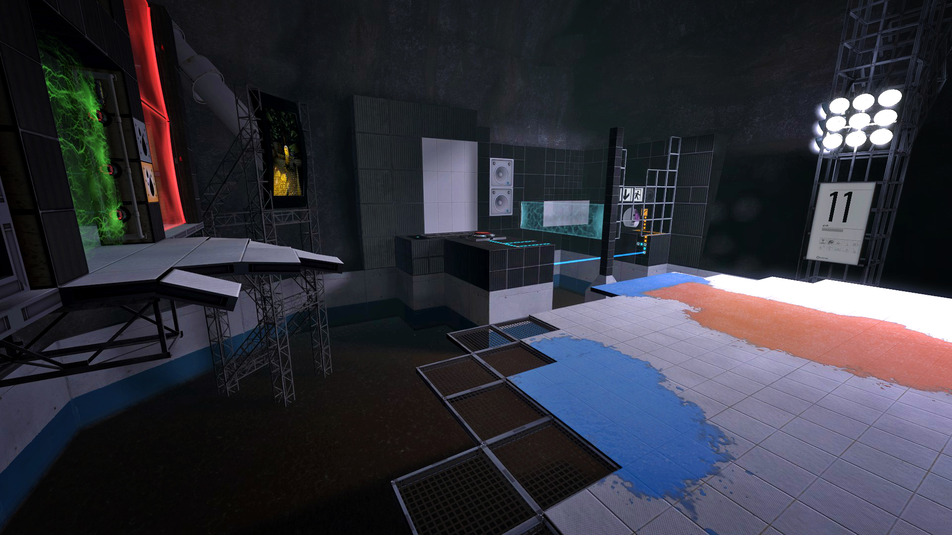 Portal 2 Mod - Aperture Tag The Paint Gun Testing Initiative - Blaues und Rotes Gel