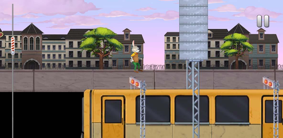Ratzfatz-durch-die-Mauer-Springend-auf-dem-Zugdach