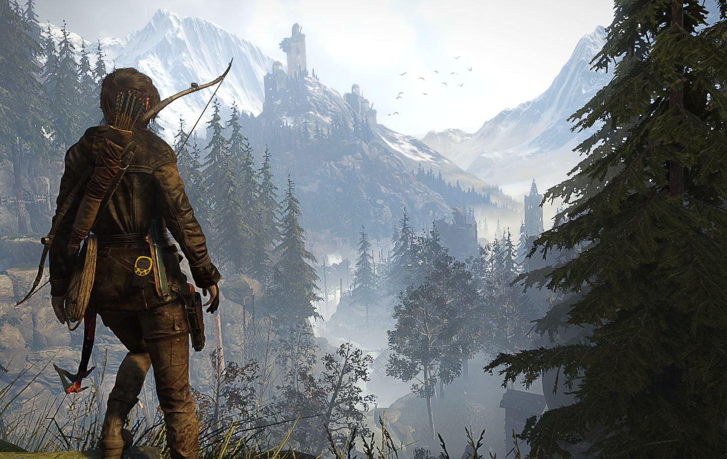 Rise of the Tomb Raider - Ausblick auf ein Tal