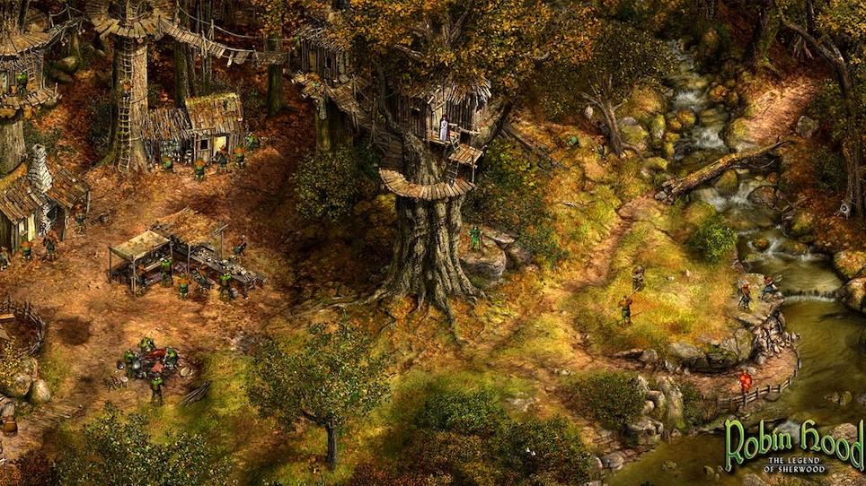 Robin Hood - Spielen unter Win 10 - Anleitung - Robins Lager im Wald