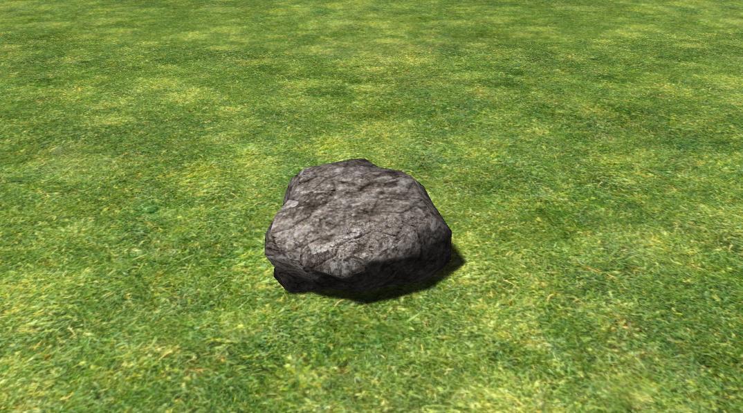 Rock Simulator 2014 Ein Stein auf einer Wiese