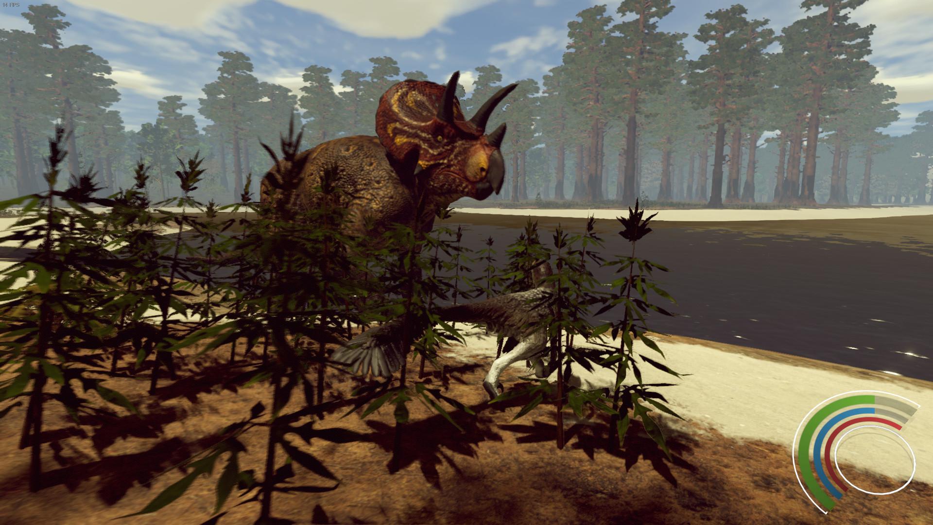 Saurian - Dakotaraptor und Triceratops