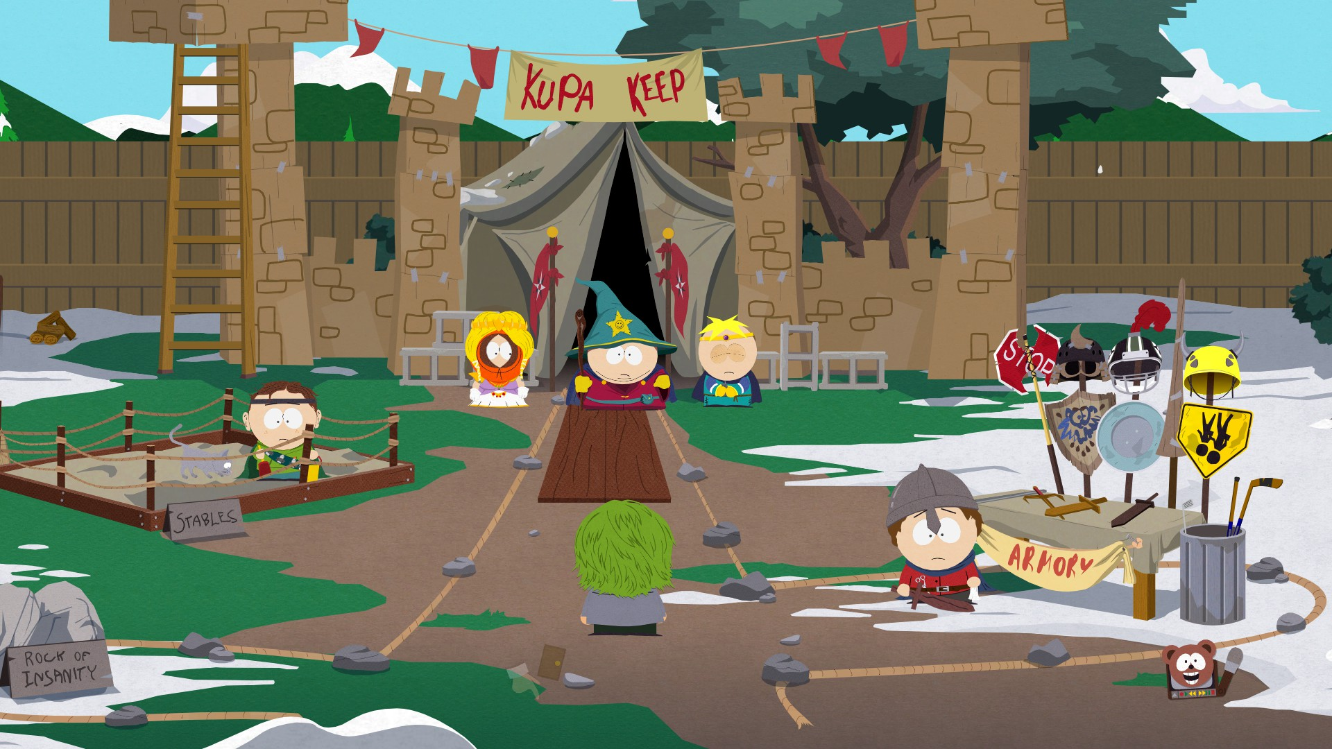 South Park Der Stab der Wahrheit -  Garten Burg Kupa Keep