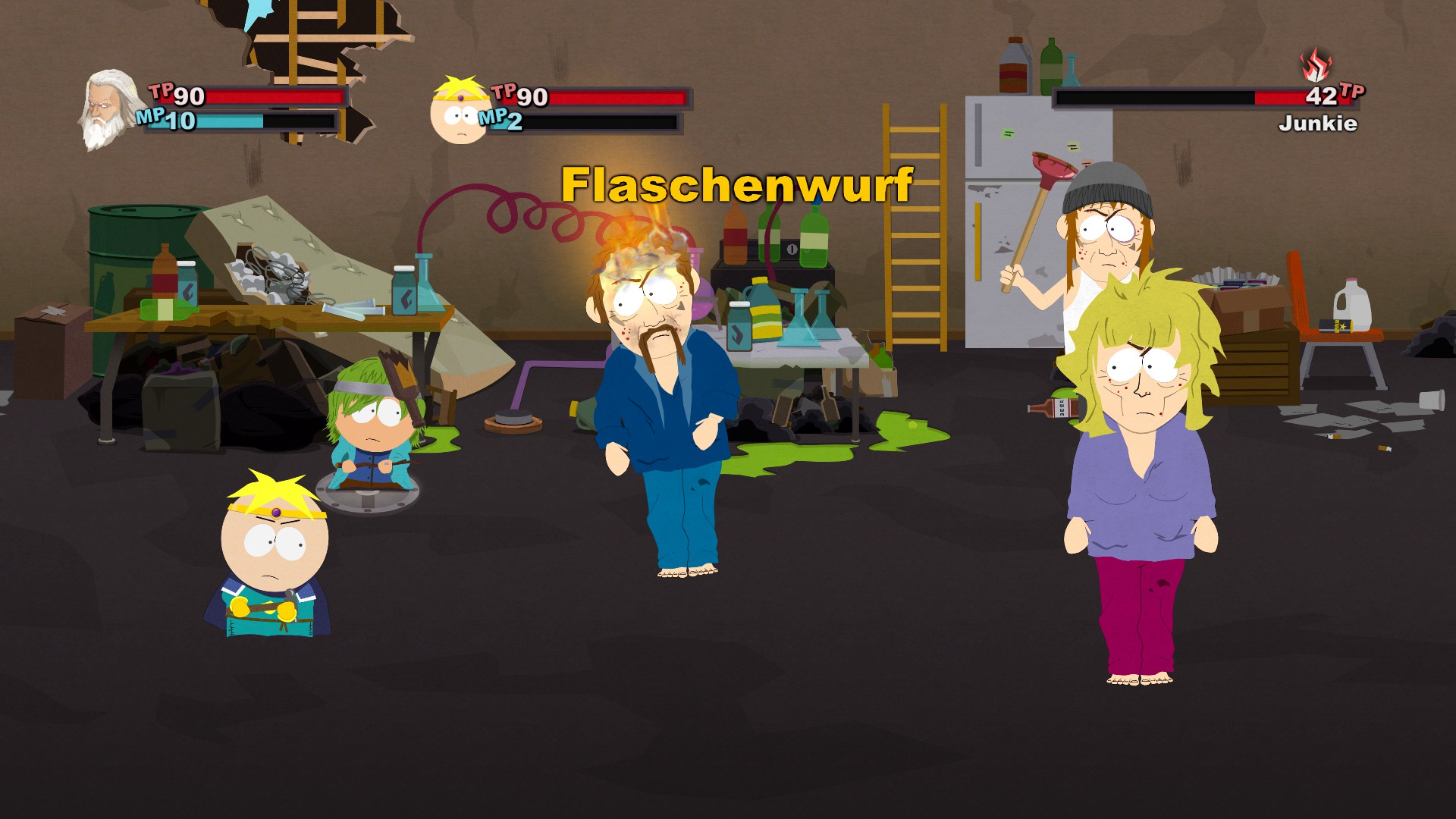 South Park Der Stab der Wahrheit -  Kaempfe sind rundenbasiert