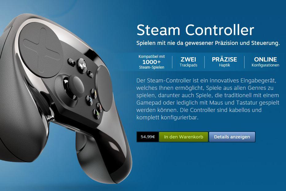 Steam Controller Verfügbar
