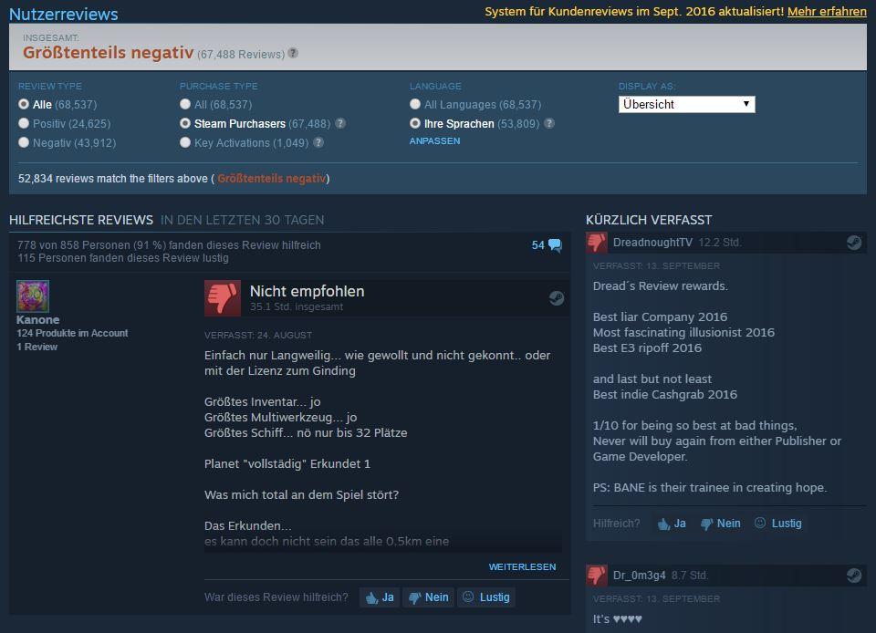 Steam - Nutzer Reviews - Neues Update gegen Betrug