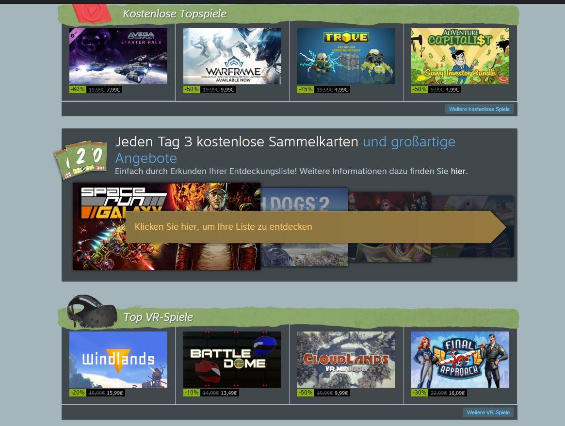 Steam Summer Sale 2016 - Aktionen