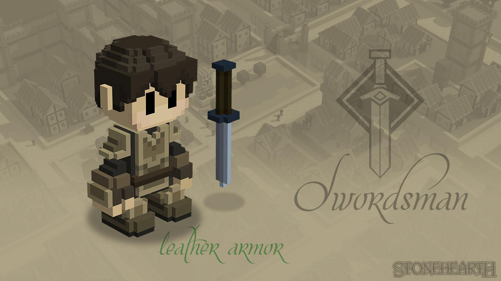 Leder-Schwertkämpfer