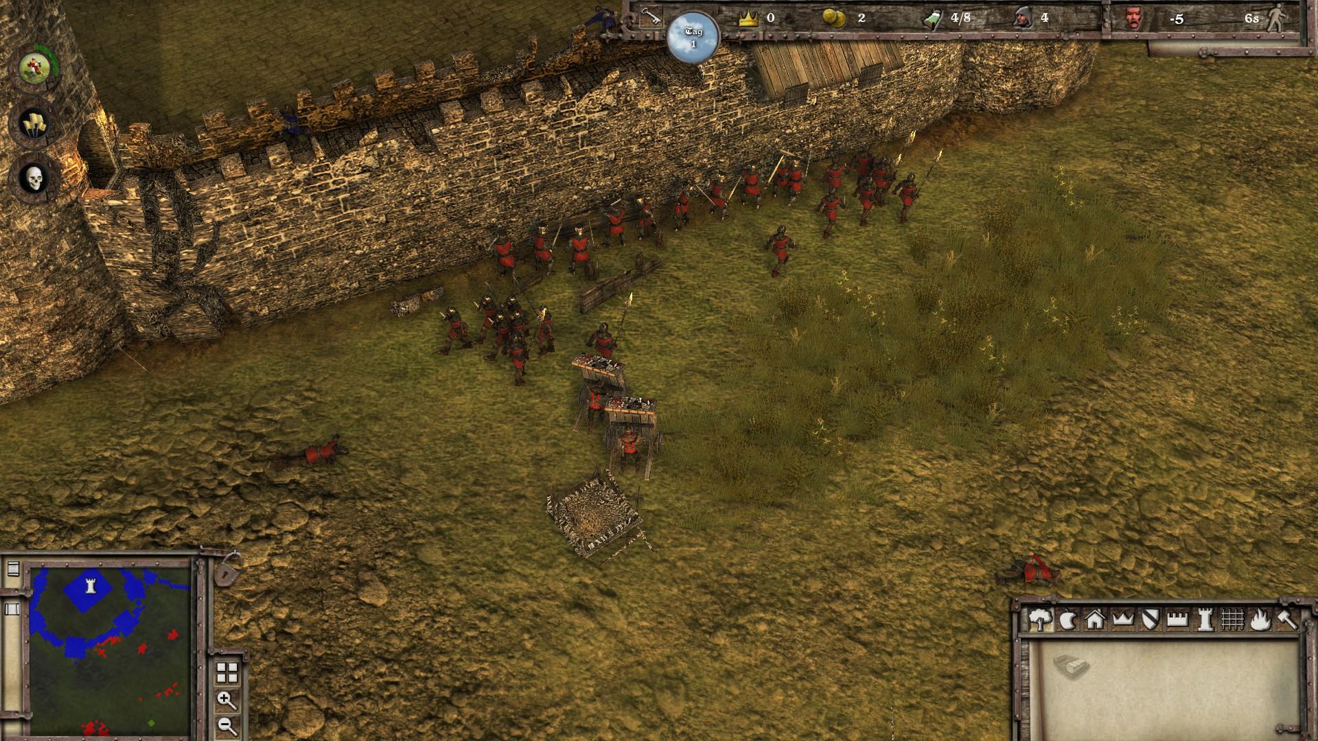 Stronghold 3 Die Schilde bewegen sich leider hinter den Einheiten